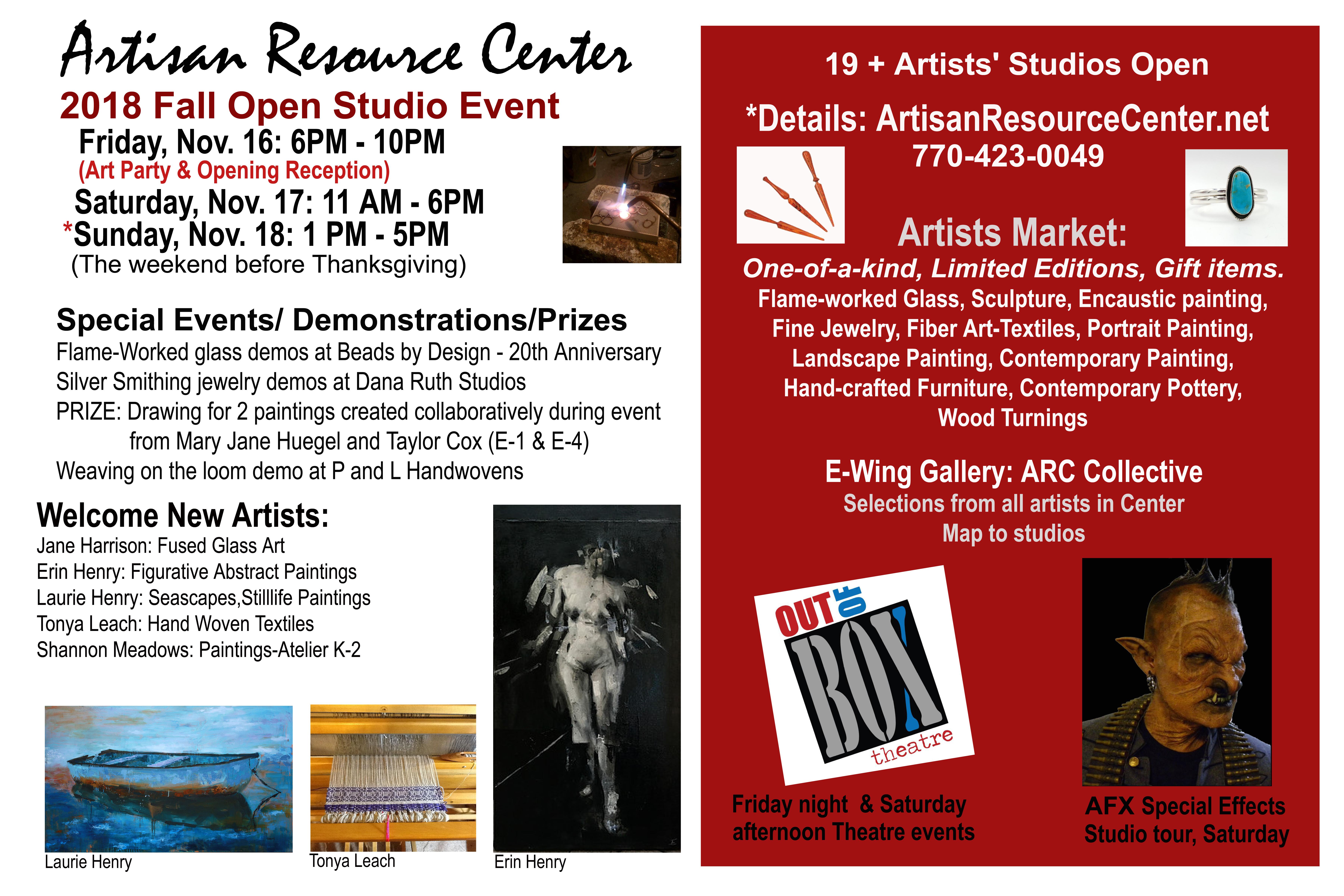 70eb06b362 Artisan Resource Center 2017 Fall Open Studios