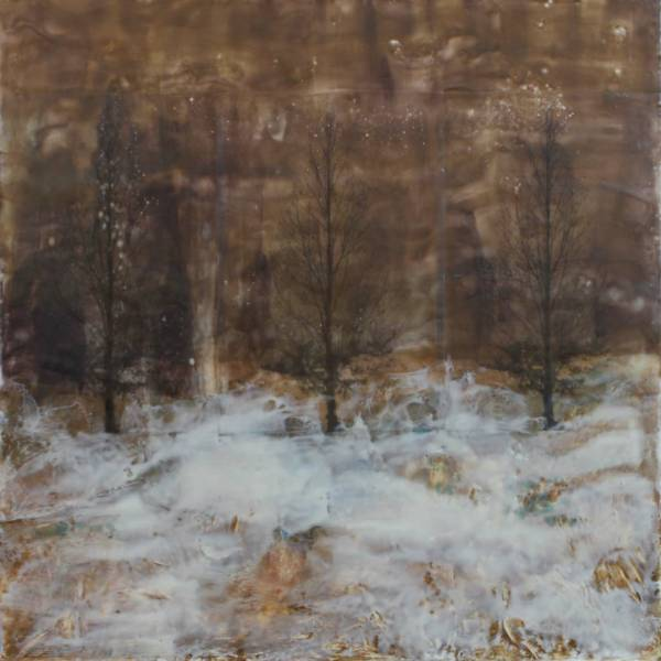"""Winter Song"" Helen Deramus Encaustic, expanded to stydio L-1"