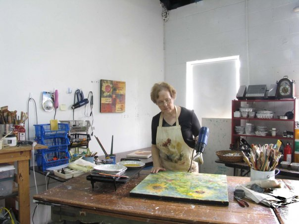 Helen DeRamus demonstrates Encaustics Saturday & Sunday in studio G-2