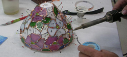 Colonial Stained Glass, Lamp making demo Saturday, Studio H